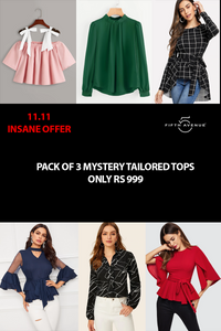 Fifth Avenue Women's 11 11 Special Offer Pack of 3 Mystery Tailored Tops