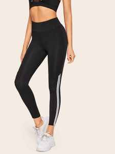 Fifth Avenue FTYP5 Contrast Ankle Striped Yoga Pants