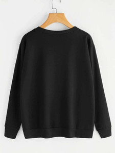 Fifth Avenue DIFT13 How You Doin Printed Sweatshirt - Black