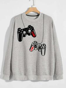 Fifth Avenue Gaming Controller DIFT75 Printed Sweatshirt - Grey