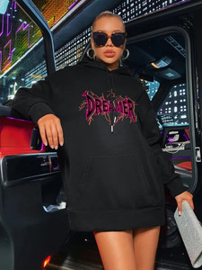 Fifth Avenue DIFT76 Dreamer Print Hoodie - Black