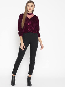 Fifth Avenue Womens Mesh Insert Detail Velvet Stitched Western Top - FAWWT24 - MP