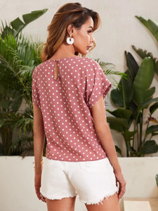 Women's Polka Dot Print Top by Groove - GRWTP2