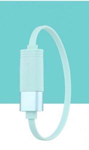 Usams U-Loop Bracelet USB Cable (L=20cm) - Cyan