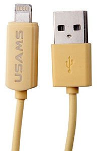 Usams U-Line lightning Data Transmit And Charging Cable for iPhone - Yellow
