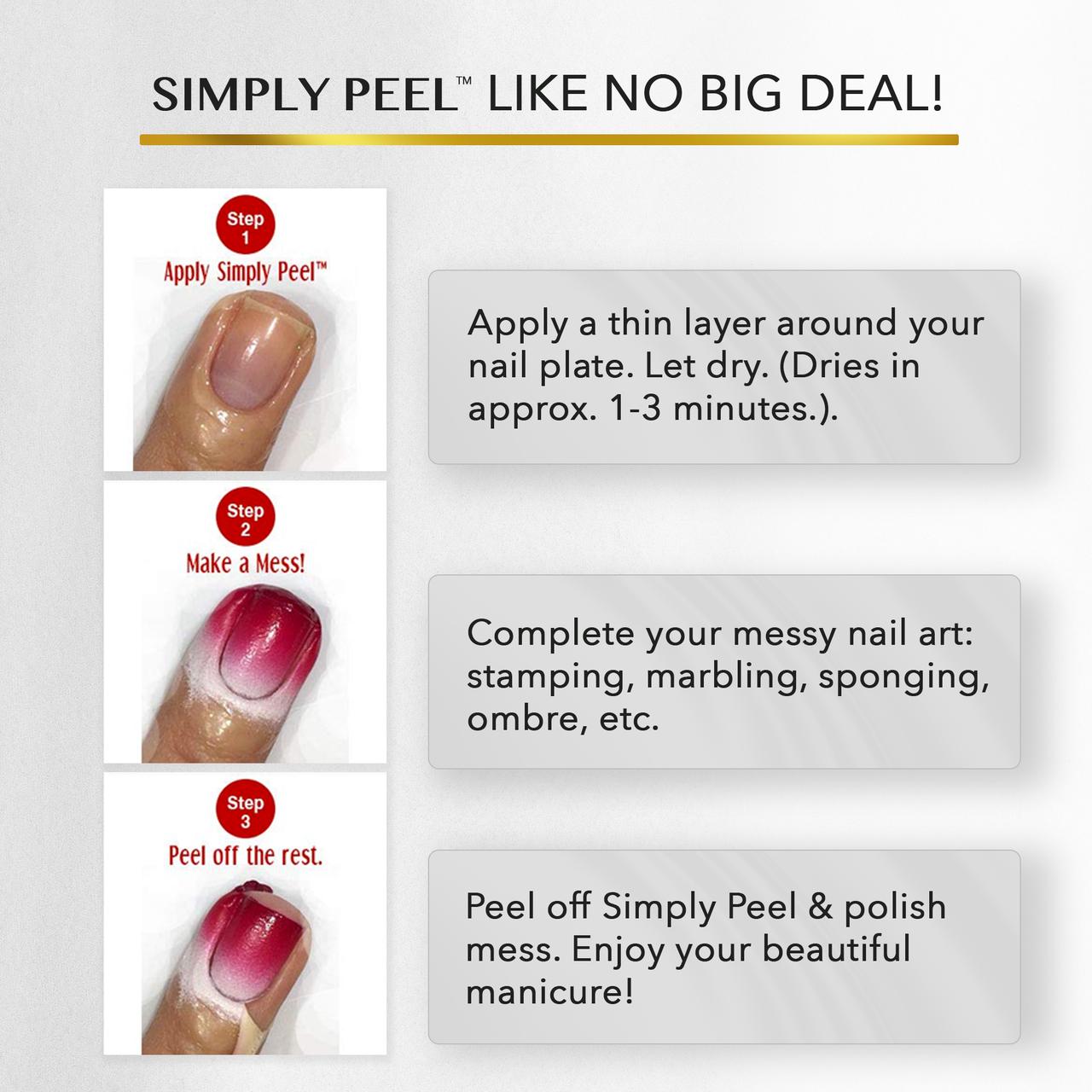 Simply Peel™ Liquid Latex Barrier - Glitter Free - New Black Bottle!