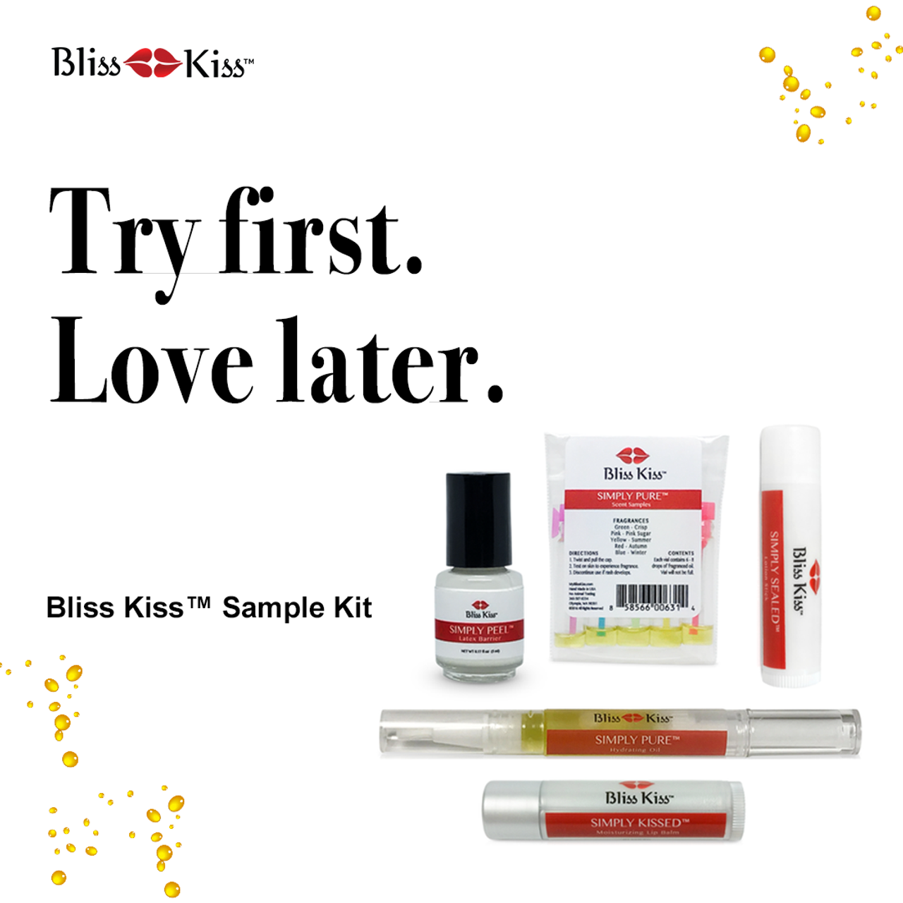 Bliss Kiss™ Sample Kit