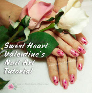 Sweet Pink Heart Manicure Tutorial