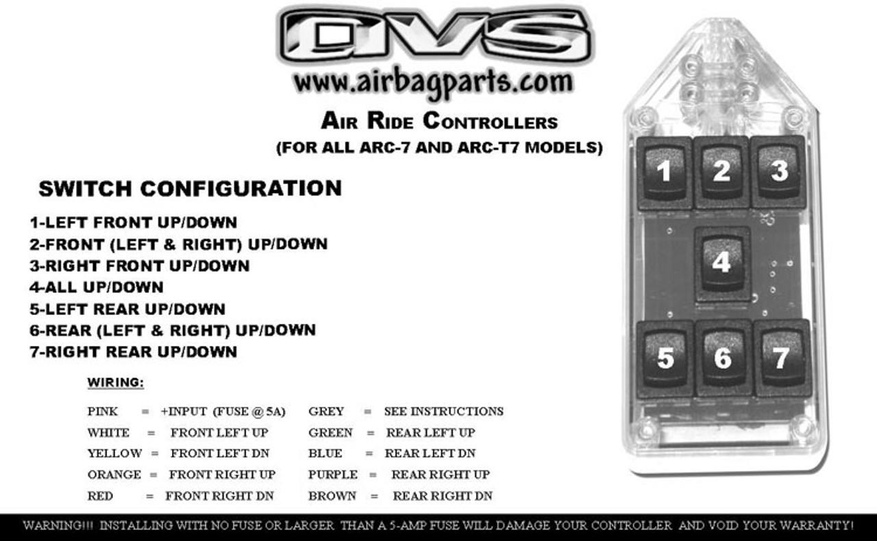 Avs Arc 7 Switch Rocker Series Black