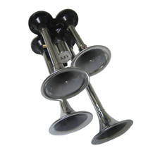 4 Trumpet Chrome Bell Air Horn