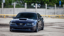 94-04 Ford Mustang SN95 Air Lift Kit with Manual Air Management- Front View