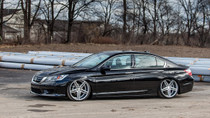 13-17 Honda Accord/15-19 Acura TLX Air Lift Kit with Manual Air Management- Side View