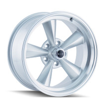 Ridler 675 Silver/Machined Lip 17X7 5-120.65 0mm 83.82mm