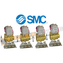 "3/8"" smc pneumatic air valve 4 pack  part number 3/8"" smc valve 4 pack"