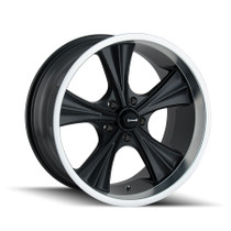 Ridler 651 Matte Black/Machined Lip 20X10 5-114.3 0mm 83.82mm