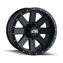 ION 134 Matte Black/Black Beadlock 17x8.5 5-127 -6mm 83.82mm