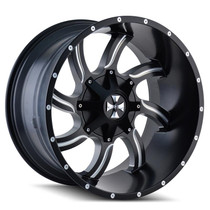 Cali Offroad Twisted Satin Black/Milled Spokes 20X14 8-180 -76mm 124.1mm