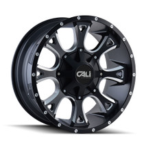 Cali Off-Road Anarchy Satin Black/Milled Spokes 22X12 8-165.1/8-170 -44mm 130.8mm