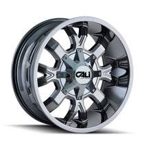 Cali Off-Road Dirty PVD2 Chrome 22X10 8-165.1/8-170 -19mm 130.8mm