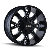 Cali Off-Road Dirty Satin Black/Milled Spokes 20X9 8-165.1/8-170 18mm 130.8mm