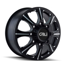Cali Off-Road Brutal Front Black/Milled Spokes 22X8.25 8-165.1 127mm 116.7mm