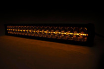 50-IN Cree LED Light Bar (Dual Row / Chrome Series w/ Amber DRL) up close