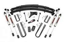 4in Ford Suspension Lift Kit (1999 Ford F250/F350 Super Duty) with V2 Monotube Shocks