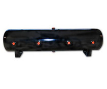 12 Gallon Steel Air Tank with 8 Ports- Black
