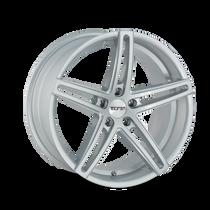 Touren TR73 Gloss Silver/Milled Spokes 20X8.5 5-112 30mm 66.56mm