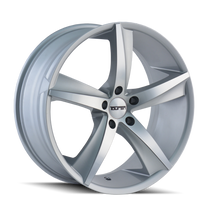 Touren TR72 Gloss Silver/Machined Face 20X8.5 5-120 30mm 74.1mm