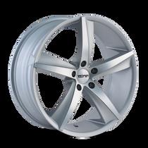Touren TR72 Gloss Silver/Machined Face 17X7.5 5-114.3 40mm 72.62mm