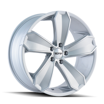 Touren TR71 Gloss Silver/Machined Face 20X10 5-120 40mm 74.1mm