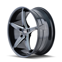 Touren TR70 Black/Milled Spokes 20X8.5 5-115 35mm 72.62mm