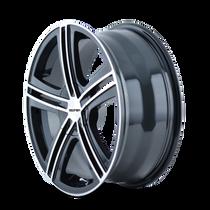 Touren TR62 Black/Machined Face/Machined Lip 16X7 5-100/5-114.3 40mm 72.62mm