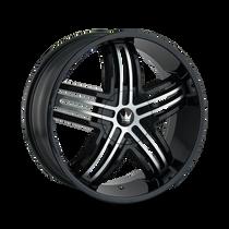 Mazzi 368 Entice Gloss Black/Machined Face 22x9.5 6-135/6-139.7 30mm 106mm