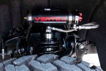 GM Front Adjustable Vertex Coilovers (07-18 1500 PU / For 6-7.5IN Lifts) installed