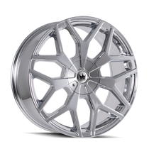 Mazzi 367 Profile Chrome 24x9.5 6-135/6-139.7 30mm 106mm
