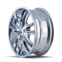 Mazzi 366 Obsession Chrome 24X9.5 5-115/5-120 18mm 74.1mm