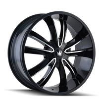 Mazzi 366 Obsession Gloss Black/Machined Face 20X8.5 5-108/5-114.3 35mm 72.56mm