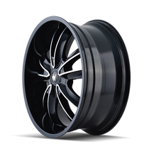 Mazzi 366 Obsession Gloss Black/Machined Face 20X8.5 5-112/5-120 35mm 72.56mm