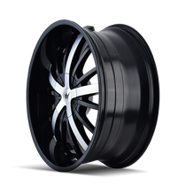 Mazzi 364 Essence Gloss Black / Machined Face 22X9.5 5-115/5-120 18mm 74.1mm