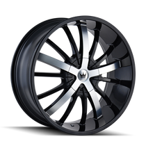 Mazzi 364 Essence Gloss Black / Machined Face 24X9.5 5-127/5-139.7 18mm 87mm
