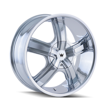 Mazzi 359 Boost Chrome 20X8.5 5-110/5-115 35mm 72.62mm