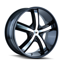 Mazzi 359 Boost Black/Machined Face 18X7.5 4-100/4-114.3 40mm 67.1mm