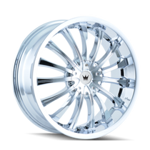 Mazzi 351 Chrome 22X8.5 5-110/5-115 35mm 72.62mm