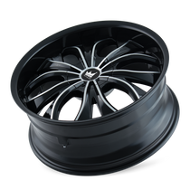 Mazzi 342 Hustler Gloss Black/Machined Face 20X8.5 5-110/5-115 35mm 72.62mm