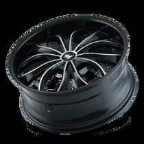 Mazzi 342 Hustler Gloss Black/Machined Face 20X8.5 5-112/5-120 35mm 74.1mm