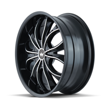Mazzi 342 Hustler Gloss Black/Machined Face 24X9.5 6-135/6-139.7 30mm 106mm