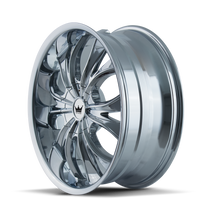 Mazzi 342 Hustler Chrome 24X9.5 5-115/5-120 18mm 74.1mm