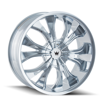 Mazzi 342 Hustler Chrome 24X9.5 6-135/6-139.7 30mm 106mm